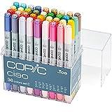 COPIC Ciao Marker Set C mit 36 Farben, alkoholbasierte Allround Layoutmarker, im praktischen Acryl-Display zur Aufbewahrung und einfachen Entnahme