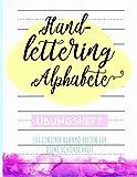 Handlettering Alphabete: Blanko Übungsheft mit linierten Seiten für Deine Schönschrift