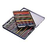 KKmoon 48 Farben Wasserlöslich Buntstifte Set mit Bürste Metall Box, Vor Geschärft Farbestifte für Kinder Erwachsene Künstler Zeichnung Skizzierung Schreiben Malen Grafik