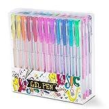 HBselect 48 Stück Gelstifte Gelschreiber Set 0,5 mm inklusive Standard, Neon, Milchig, Glitzer, Metallisch Gel Pen für Künsterbedarf, Scrapbooking, Zeichnen, Basteln