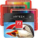 Arteza professionelle Aquarell Buntstifte, wasservermalbare Stifte für Aquarellmalerei, 72 Aquarellstifte im Metallbox