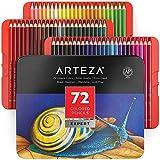 Arteza Buntstifte 72er-Set, Malstifte in tragbarer Metallbox, mischbare Farbstifte mit bruchsicheren Minen, zum Ausmalen & Schattieren, Künstlerbedarf für Profis, Anfänger, Erwachsene und Kinder