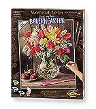 Schipper 609130790 Malen nach Zahlen, Ein Gruß aus dem Bauerngarten - Bilder malen für Erwachsene, inklusive Pinsel und Acrylfarben, 40 x 50 cm