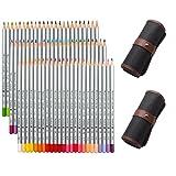 NIUTOP 72 Farben Buntstifte Farbstifte von Marco Raffine Set mit Leinwand Roll-up Bleistift Tasche für Klein und Groß zum Malen, Ausmalen, Skizzieren oder Colorieren