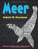 Meer - Malbuch für Erwachsene - Löwenfisch, Tintenfisch, Hummer, Robbe und mehr  🐠 🐳 🐢 🐬 🐸 🐟 🐧 🐙