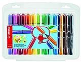 Filzstift mit Kappenring - STABILO Cappi - 24er Pack - mit 24 verschiedenen Farben