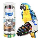 Farbstifte,Set mit 48 Farben in einem Fass, weiche Kerne auf Wachsbasis, zum Zeichnen, Skizzieren, Schattieren und Färben, Lebendige Buntstifte für Erwachsene und professionelle Künstler