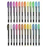 Pretop Gelstifte Set   Gelschreiber   Multicolor Gel Stift Set Inklusive Metallic, Glitzer, Neon, waterchalk für Künsterbedarf, Erwachsene Malbücher, Zeichnen, Skizzieren, basteln usw