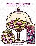 Malbuch mit Desserts und Cupcakes für Erwachsene 1 & 2