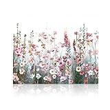 SUMGAR Malen nach Zahlen Erwachsene Blumen Bunt DIY Öl Leinwand Gemälde Set für Anfänger & Senior Acrylic Malen Malerei Heimwerk 40x50 cm (Ohne Rahmen)