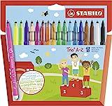 Filzstift - STABILO Trio A-Z - 18er Pack - mit 18 verschiedenen Farben