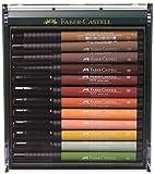 Faber-Castell 267422 - Tuschezeichner Pitt Artist Pen, 12er Packung, Erdfarben