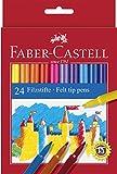 Faber-Castell 554224 - Filzstift im Kartonetui, 24 Stück