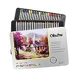 Ohuhu® 48-Farben-Berufsqualitäts-Art Zeichnen Stift / Colored Pencils für Artist Sketch, Set von 24/36/48/72 Farben pencils für Artist Sketch, Buntstifte mit neuer Ohuhu Packung