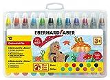 Eberhard Faber 529112 - Gelmalstifte Basic und Metallic in 12 leuchtenden Farben, mit weicher Mine und Schiebehülse, bruchsicher, im Kunststoffetui, für unbeschwerten Malspaß