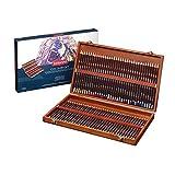 Derwent Coloursoft Glatte leuchtende Farbstifte in Holzkoffer, 72 Stifte