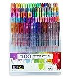 Gelschreiber | LolliZ Gelstifte 100 Gel-Stifte Set mit Einzelfach-Ablage; 100 exklusive Farben