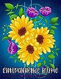 Entspannende Blume: Malbuch für Erwachsene mit Blumenmustern, Blumensträußen, Kränzen, Strudeln, Dekorationen