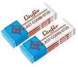 Läufer 69849 Plast Combi 0720 Radierer, für Bleistifte, Buntstifte und für Tinten und Tuschen, Blisterkarte enthält 2 Radiergummis