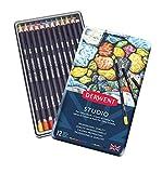 Derwent Studio Buntstifte, Zeichnen & Ausmalen, 12er-Set, Ideal für Illustrationen & Detaillierung, Professionelle Qualität, 32196