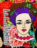 Mädchen mit Borten & Blumen im ihr Haar Inspiriert von Frida Kahlo einfach Malbuch für Erwachsene Kinder Rentner jeder vom Künstler Grace Divine ... Books in German (Some in German with E)