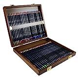 Derwent Studio Buntstifte in einer Geschenk-Box aus Holz, Zeichnen & Ausmalen, 48er-Set, Ideal für Illustrationen & Detaillierung, Professionelle Qualität, 0700822