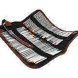 Zedtom Federmäppchen, Stifte-Etui mit 36Einschüben für Stifte, aus Leinen (Anmerkung: Keine Farbstifte) 72 Fori