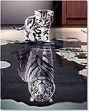 Bougimal Malen Nach Zahlen Erwachsene Tiere ohne Rahmen inklusive Pinsel und Acrylfarben - 40 x 50 cm, Katze
