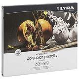 LYRA Rembrandt Polycolor Künstler-Farbstifte, Holz, farbig Sortiert, 24er Metalletui