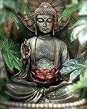 Malen Nach Zahlen Erwachsene & Kinder,Lotus Buddha DIY Handgemalt Ölgemälde Kit für Anfänger und Erwachsene,Einzigartige Geschenk Home Haus Deko, Acrylpigment für Gemälde 40 × 50 cm (Rahmenlos)