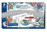 Staedtler karat aquarell Buntstifte (wasservermalbar, Set mit 60 brillanten Farben, Exklusive Johanna Basford Edition, 125 M60JB)