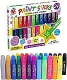 TBC The Best Crafts 24 Farben Wachsmalstifte Wachsmalkreide für Kinder Mädchen Junge Erwachsene