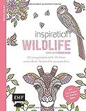 Inspiration Wildlife: 50 inspirierende Motive aus dem Tierreich kolorieren (Farbe rein – Stress raus)