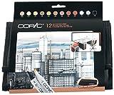 COPIC 12er Set Architekturfarben im Wallet