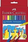 Faber-Castell 554212 - Filzstift im Kartonetui, 12 Stück