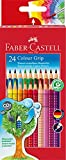 Faber Castell 112424 - Farbstifte Colour Grip 2001, 24 Stück im Kartonetui