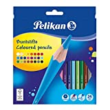 Pelikan 724013 - Buntstifte sechseckige Holzstifte Packung mit 24 Farben