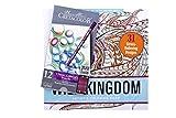 CRETACOLOR 270 99B - Malbuch Wild Kingdom mit 12 Karmina Farbstiften