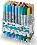 COPIC Ciao Marker 36er Manga Starter Set, alkoholbasierte Allround Layoutmarker, im praktischen Acryl-Display zur Aufbewahrung und einfachen Entnahme