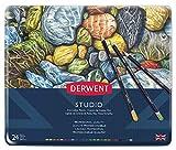 Derwent Studio Buntstifte in Metallbox 24 Stück