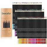 Soucolor 72 Farben Buntstifte Farbstifte Set, Zeichnung Bleistifte für Erwachsene Malbuch, Buntstifte für Kinder & Erwachsene, Skizze, Crafting-Projekte