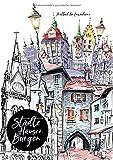 Städte Häuser Burgen Malbuch für Erwachsene: Städte Malbuch Erwachsene   Malbücher für Erwachsene   Malbuch Häuser   Malbuch Landschaften   versch. Stilrichtungen   A4   72 S.