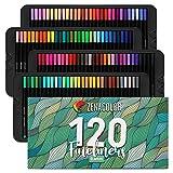 Zenacolor 120 Stifte mit feiner Spitze - 0,4 mm Stifte mit feiner Spitze - Schreibwaren- und Zeichenwerkzeuge für Künstler, Filzstifte, Hervorragend zum Malen, Skizzen, Technisches Zeichnen
