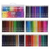 WCOCOW Farbstifte Buntstifte Set 120/160 Art von Farben Farbstifte Set Malstifte Set Kunst Stifte Set f¨¹r erwachsene Malbuch