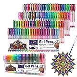 Gelstifte 120 Farben Gelschreiber für Erwachsene und Kinder Malbuch Schreiben Zeichnen
