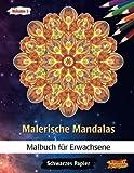 Malerische Mandalas: Malbücher für Erwachsene   Mitternacht Edition