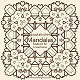 Malbuch mit quadratischen Mandalas für Erwachsene 1