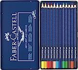 Faber-Castell Farbstifte ART GRIP Aquarelle 12er Metalletui | inkl. Water Brush