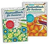 Ausmalbuch für Senioren Bd. 1 u. 2 im SET: mit unterhaltsamen Aktivierungsvorschlägen