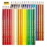 36 Marco farbstifte set mit Bleistiftspitzer,Taotree Buntstifte für Kinder Malerei and Adult Coloring Book Secret Garden (erhöhte Bruchfestigkeit, dreikant, Set mit 36 brillanten Farben)